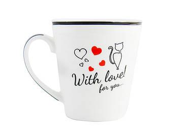 "Чашка керам. 320мл ""Чорна кішка"" №2178-1/2899/S&T/(9)(36)"