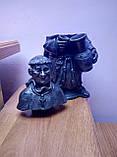 Фігури керамічні (келихи) ручної роботи з чорнодимленої кераміки, фото 3