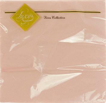 """Серветки столові ТМ """"Luxy"""" 3-х шарові (20шт) рожева(15)"""