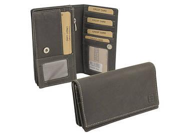 """Портмоне шкіра """"Enrico Benetti Leather"""" вертик. з від. для документів №67010001 чорн."""