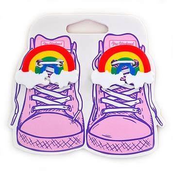 """Набір аксесуарів для шнурків """"Yes Weekend"""" Rainbow №555814(6)"""