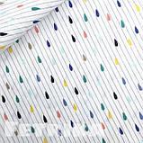 Ткань Сатин Цветные капельки, фото 2