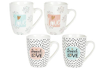 "Чашка керам. 320мл ""Love"" №920-100(48)/Bonadi/"