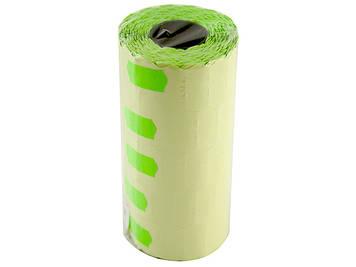Цінник клейкий в рул. мал. 15м 12х25мм (1200шт)(зелен.)(5)(6)(125)