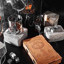 Камни для виски 16 камней (Сертификат) + деревянная упаковка + щипцы + 2 подставки, фото 3