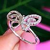 Нежное серебряное кольцо Бабочка - Кольцо с бабочкой серебро родированное, фото 6
