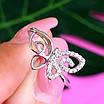 Нежное серебряное кольцо Бабочка - Кольцо с бабочкой серебро родированное, фото 4