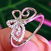 Нежное серебряное кольцо Бабочка - Кольцо с бабочкой серебро родированное, фото 5