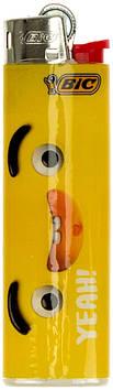 """Запальничка кремн. """"Bic"""" J23 Жовті міми №991957(50)(600)"""