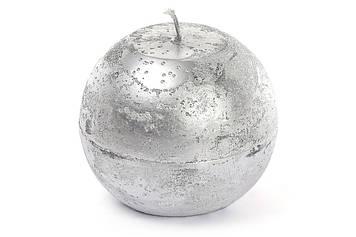 Свічка куля 10см,срібляста №B010_1-9.1(6)/Bonadi/