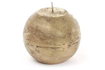 Свічка куля 12см,золотиста №B012_1-9.2(6)/Bonadi/