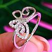 Нежное серебряное кольцо Бабочка - Кольцо с бабочкой серебро родированное, фото 2