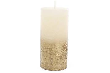 Свічка циліндр 20см,амбре шампань-золотиста №C07_20_1-1.9.9.2(12)/Bonadi/
