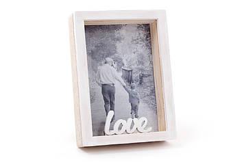 """Фоторамка дерев. """"Love"""" об'єднання ємна 9х13см №493-580/Bonadi/(64)"""