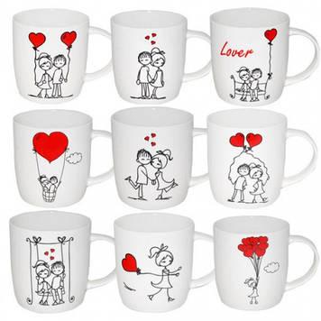 """Чашка керам. 360мл """"Закохані"""" №2183-4/2875/S&T/(9)(36)"""