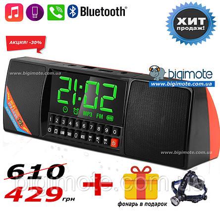 Качественный ФМ Радиоприемник WS, качественный радиоприемник,фм радио,часы,будильник, фм радиоприемник,ws1515,, фото 2
