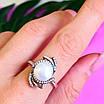 Серебряное кольцо с жемчугом и фианитами, фото 7