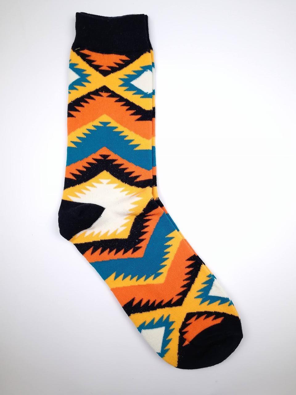 Веселі шкарпетки з етнічним принтом