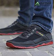 Кросівки чоловічі сітка червона підошва