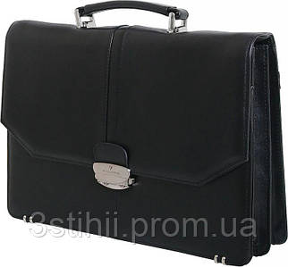 Портфель Vip Collection кожаный 1240.A Черный