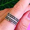 Женское серебряное кольцо с фианитами и чернением - Широкое женское серебряное кольцо, фото 7