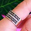 Женское серебряное кольцо с фианитами и чернением - Широкое женское серебряное кольцо, фото 6