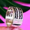 Женское серебряное кольцо с фианитами и чернением - Широкое женское серебряное кольцо, фото 4