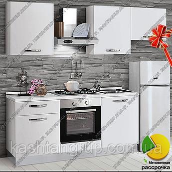 Кухонный гарнитур Белый Снег 1,8 метра