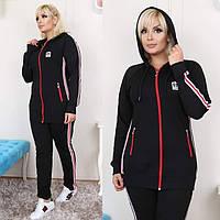 Женский спортивный костюм батальный черный
