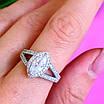 Серебряное женское кольцо с цирконием - Женское кольцо серебряное с фианитами, фото 8