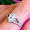 Серебряное женское кольцо с цирконием - Женское кольцо серебряное с фианитами, фото 7