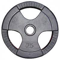 Диск для штанги с хватами 25кг, д51мм