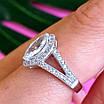 Серебряное женское кольцо с цирконием - Женское кольцо серебряное с фианитами, фото 6