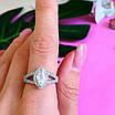 Серебряное женское кольцо с цирконием - Женское кольцо серебряное с фианитами, фото 5