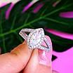 Серебряное женское кольцо с цирконием - Женское кольцо серебряное с фианитами, фото 3