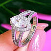 Серебряное женское кольцо с цирконием - Женское кольцо серебряное с фианитами, фото 2