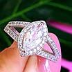 Серебряное женское кольцо с цирконием - Женское кольцо серебряное с фианитами, фото 4