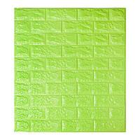 Самоклеющиеся обои Декоративная 3D панель ПВХ 1 шт, зеленый кирпич