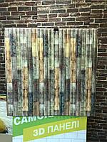 Самоклеющиеся обои Декоративная 3D панель ПВХ 1 шт, микс бамбук
