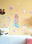 Наклейки на стену в детскую Русалочка, фото 4