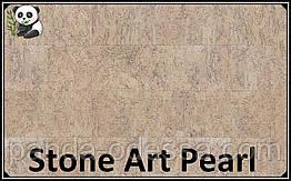 Пробковые панели (обои) Stone Art Pearl TM Wicanders 600*300*3 мм
