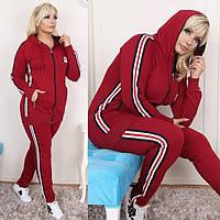 Женский спортивный костюм батальный красный