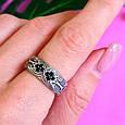 Серебряное кольцо с черными цирконами - Необычное кольцо из серебра с черными камнями, фото 10
