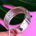 Серебряное кольцо с черными цирконами - Необычное кольцо из серебра с черными камнями, фото 5