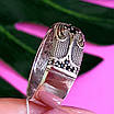 Срібне кільце з чорними цирконами - Незвичайне кільце з срібла з чорними камінням, фото 3