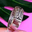 Серебряное кольцо с черными цирконами - Необычное кольцо из серебра с черными камнями, фото 3