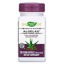 """Алоэ с фенхелем Nature's Way """"Aloelax with Fennel Seed"""" 340 мг (100 капсул)"""