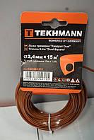 Ліска для триммера Tekhmann квадрат Dual 2.4мм, 15м