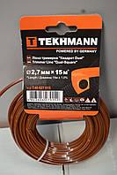 Леска для триммера Tekhmann квадрат Dual 2.7мм, 15м