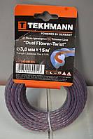 """Ліска для садових тримерів """"DUAL Flower-Twist"""" 3.0 мм х 15 м Tekhmann"""